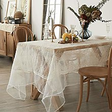 Rectangular/Round Lace Tablecloth Rectangle Table