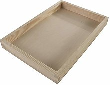 Rectangular Shallow Display Open Box Container |