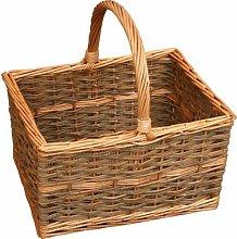 Rectangular Shopping Wicker Basket Brambly Cottage