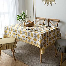 Rectangular Table Cloth, Cotton And Linen Printing