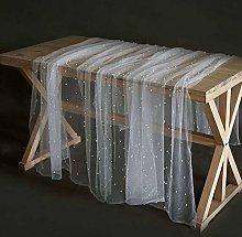 Rectangular Tablecloth, Table Runner Chiffon White
