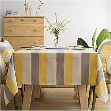 Rectangular Tablecloths Yellow Stripe Rectangular