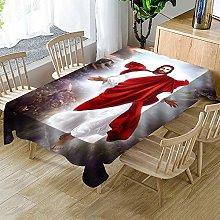 Rectangular Waterproof Tablecloth Religious Jesus
