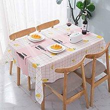 Rectangular Waterproof Tablecloth, Wipeable