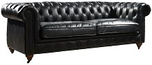 Rector Leather 3 Seater Chesterfield Sofa