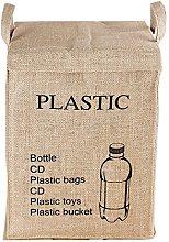 Recycle Bag Separate Jute Weave Square Recycle Bin