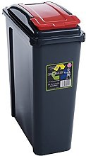 Recycle Bin Slate/Red 25L by Wham