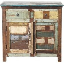 Recycled wood sideboard, multicoloured W 90cm