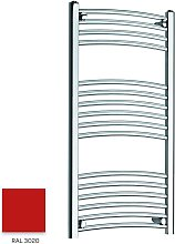 Red 1000mm x 300mm Curved 22mm Towel Rail -