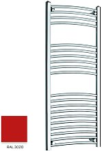 Red 1200mm x 300mm Curved 22mm Towel Rail -