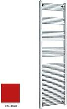 Red 1600mm x 400mm Straight 22mm Towel Rail -