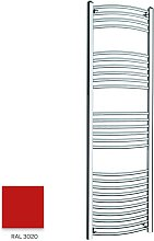 Red 1600mm x 500mm Curved 22mm Towel Rail -