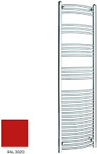 Red 1800mm x 500mm Curved 22mm Towel Rail -