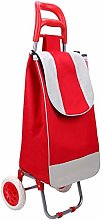 Red 2 Rounds of Shopping cart Large-Capacity