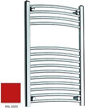 Red 800mm x 300mm Curved 22mm Towel Rail -