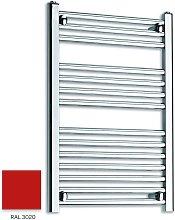 Red 800mm x 600mm Straight 22mm Towel Rail -