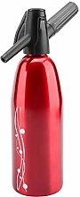 Red Alloy Steel Soda Maker with Compact Size,
