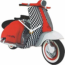 Red and Black Vespa Scooter Clock - MS8
