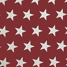 Red and White Large Star PVC Vinyl Wipe Clean
