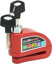 Red Anti-theft Wheel Disc Brake Lock Alarm