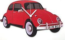 Red Beetle Car Clock - BT13