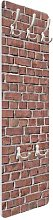 Red Brick Wallpaper Wall Mounted Coat Rack Symple