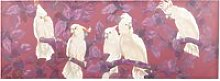 Red Canvas with Cockatoo Print 200x70