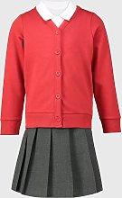 Red Cardigan, Polo & Skirt Schoolwear Bundle - 4