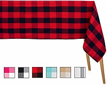 Red Checked Tablecloths - Extra Large Rectangular