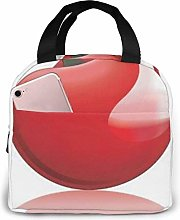 Red Cherry Insulated Lunch Bag Lunch Box Cooler