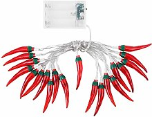 Red Chilli String Lights LED Rope Fairy Light