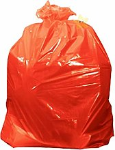 Red Coloured Strong Kitchen Home Waste Sacks Bin