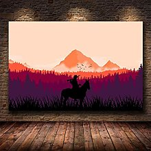 Red Dead Redemption 2 Game Canvas Wall Poster Art