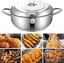 red dieny Tempura Deep Fryer With Thermometer And