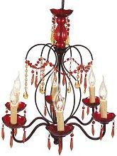 Red Dorota chandelier, acrylic