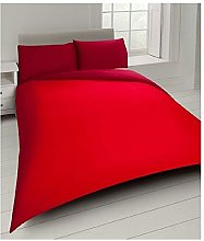 Red Double Duvet Cover Set with 2 Pillow Cases