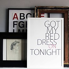 Red Dress Print By We Are Amused