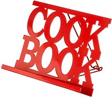Red Enamel Finish Cook Book Cooking Recipe Display