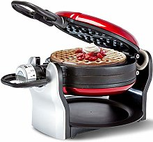 Red Flip Belgian Waffle Maker, 180° Rotating with