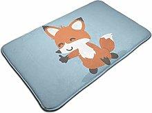 Red Fox Cartoon Giving Thumb Up Bath Mat Door Mats