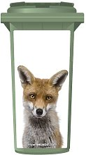 Red Fox Wheelie Bin Sticker Panel Medium