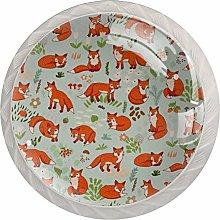 Red Fox White Crystal Drawer Handles Furniture
