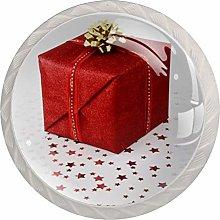 Red Gift Box White Crystal Drawer Handles