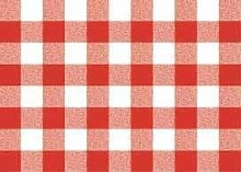 Red Gingham Check PVC Vinyl Wipe Clean Tablecloth