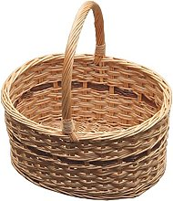 Red Hamper 40cm Cotswold Shopping Basket, Wicker,