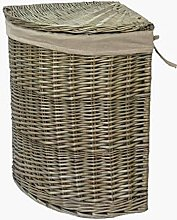 Red Hamper Antique Wash Corner Laundry Basket Set