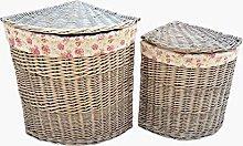 Red Hamper Antique Wash Corner Linen Basket Set