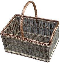 Red Hamper Bakers Shopping Basket Green Finish,