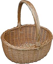 Red Hamper Buff Hollander Shopping Basket, Wicker,