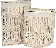 Red Hamper Corner Wash Laundry Basket with a White